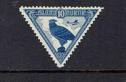 ICELAND...airmail...1930...-C-3...mh - Poste Aérienne