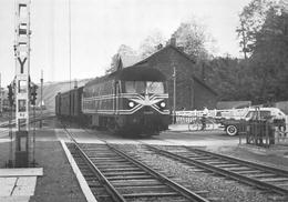 SNCB Glabbeek  Clabecq  Locomotive Locomotief Diesel Eletrique Série 59 Station La Gare Overweg   A 4872 - Stations - Met Treinen