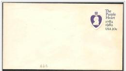 Stati Uniti/United States/États-Unis: Intero, Stationery, Entier, George Washington, Il Cuore Viola, The Purple Heart, L
