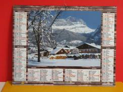 Calendrier Oberthur > Village De Servoz Et Chamonix, Haute Savoie 74, - Almanach Facteur 2015 Comme Neuf - Kalenders