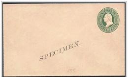 Stati Uniti/United States/États-Unis: Intero, Stationery, Entier, Specimen, George Washington