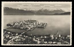 [020] Lindau Im Bodensee, Luftbild 1936, Hakenkreuz-Marke Reichsparteitag - Lindau A. Bodensee