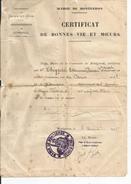 MAIRIE DE MONTGERON   Certificat De Bonnes Vie Et Moeurs    CHYPRE  1928 - Alte Papiere