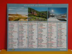 Calendrier Oberthur > Paysage De Mer Et Montagne - Almanach Facteur 2015 Comme Neuf - Calendriers