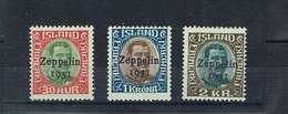 ICELAND...airmail...1931...-C9-11...mh - Poste Aérienne