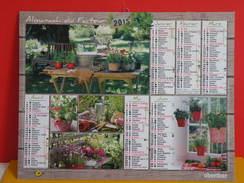 Calendrier Oberthur > Les Fleurs Et Jardin De Campagne - Almanach Facteur 2015 Comme Neuf - Calendriers
