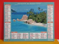 Calendrier Oberthur > Anse D'argent Seychelles,Grande Anse Martinique - Almanach Facteur 2015 Comme Neuf - Calendriers