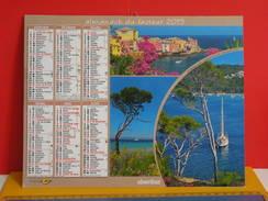 Calendrier Oberthur > Porquerolles, Erbalunga,St Tropez,Calanque D'EnVau - Almanach Facteur 2015 Comme Neuf - Calendriers