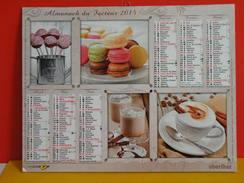 Calendrier Oberthur > Cuisine Et Désert - Almanach Facteur 2015 Comme Neuf - Calendriers