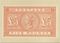 Great Britain: Postal Museum Card - QV £5 Orange Exhibition Card & Postmark 1982 - Timbres (représentations)