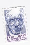 1,40 +0,30 FRANC - Centenaire De Pierre TEILHARD De CHARDIN - 1881-1965 - Dated Corners