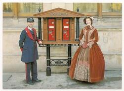 Great Britain: Midlands Postal Board Card MPB 13 - Victorian Stamp Vending Machine - FDI  Postmark 1982 - Timbres (représentations)