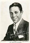 Photographie Autographe Artiste Jean Sablon (photo Isabey) - Famous People