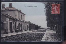 AY CHAMPAGNE COLORISEE      LE TRAIN     ET SA GARE - France