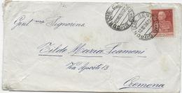 STORIA POSTALE REGNO - BUSTA AFFRANCATA CON 60 CENT GIUBILEO - 1900-44 Vittorio Emanuele III