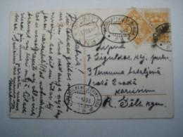 1923 , Bahnpoststempek  Riga , Auf Karte - Lettland