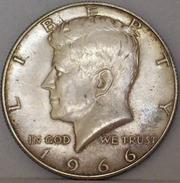 STATI UNITI Mezzo Dollaro Kennedy 1966 MONETA In ARGENTO - Federal Issues