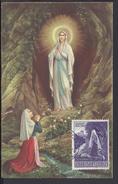 """VATICAN - 1953 - Carte Maximum  """" Bernadette Soubirous """" 2 Scans - TB - - Maximumkaarten"""