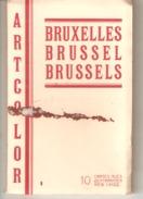 CPA - BELGIQUE  - BRUXELLES - Carnet De  10 Cartes Postales Colorisées  - ARTCOLOR . - Lots, Séries, Collections