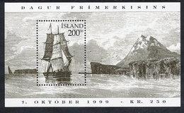 ICELAND 1999 Stamp Day: Historic Sailing Ships Block  MNH / **.  Michel Block 24 - 1944-... Republic