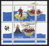 ICELAND 1994 Europa: Discovery Of Iceland Block  Cancelled.  Michel Block 15 - 1944-... Republic