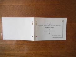 SAINT QUENTIN DIMANCHE 26 FEVRIER 1939 BRASSERIE DU CARILLON FÊTE ENFANTINE COSTUMEE SOCIETZ DES INGENIEURS ANCIENS ELEV - Programme