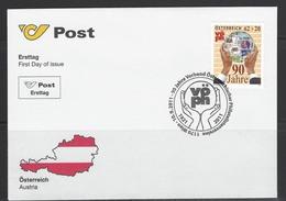 ÖSTERREICH - FDC Mi-Nr. 2954 - 90 Jahre Verband Österreichischer Philatelistenvereine (VÖPH) - FDC