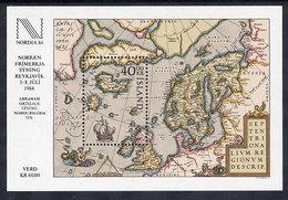 ICELAND 1984  NORDIA '84 Exhibition Block MNH / **.  Michel Block 6 - 1944-... Republic