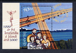 ICELAND 2000 Millenary Of Christianity Block  MNH / **.  Michel Block 25 - Blocks & Sheetlets
