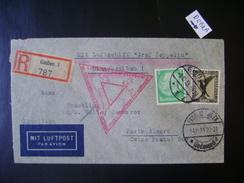 ZEPPELIN - LETTER SENT FROM GIEBEN (GERMANY) TO PORTO ALEGRE (BRAZIL) IN THE STATE - Zeppelines