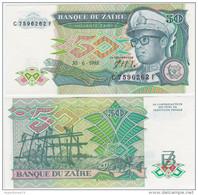 Zaire P 32 - 50 Zaires 30.6.1988 - UNC - Zaire