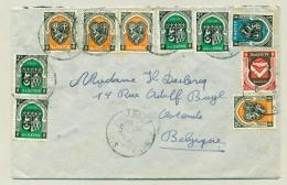 Algerie - 1950 - 10 Stamps On Cover To Ostende / België - Algerije (1962-...)