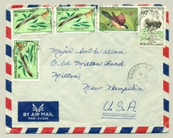 Republique Du Niger - 1975 - 5 Stamps On Cover From Niamey To New Hampshire / USA - Birds - Niger (1960-...)