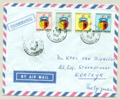 Republique Tunisienne - 1965 - 4 Stamps On Cover From Tunis Thameur To Kortrijk / België - Tunesië (1956-...)