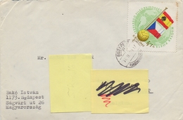 MAGYAR POSTA:1962:Y.1511 On Travelled Cover ##CHILI 1962 : World Championship Football:SPAIN-CZECHOSLOVAKIA##:BALL,FLAGS - 1962 – Chile