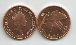 Saint Helena And Ascension 1 Penny 1997. UNC/AUNC - Santa Helena
