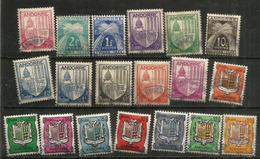 Armoiries Des Vallées, Ancienne émission Entre 1937 Et 1943,  19 Timbres Oblitérés, Bonne Qualité.