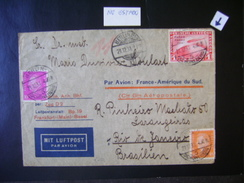 ZEPPELIN/AEROPOSTALE - LETTER SENT 1RM (POLAR-FAHRT) STAMP FROM BERLIN (GERMANY) TO RIO DE JANEIRO (BRAZIL) IN THE STATE - Zeppelins