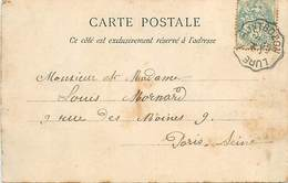 A-17-888 :  CARTE POSTALE AVEC CACHET AMBULANT  LURE A MONTBOZON - Marcophilie (Lettres)