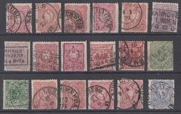 DR Lot 18 Marken Mit Nachverwendeten Stempeln - Briefmarken