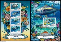 MALDIVES 2016 - Tuna. Sealife. M/S + S/S Official Issue - Marine Life