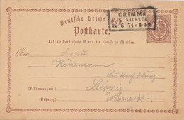 DR Ganzsache R3 Grimma In Sachsen 22.6.74 - Deutschland