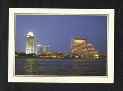 Qatar Doha Skyline By Night Picture Postcard View Card - Qatar