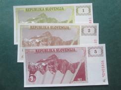 SLOVENIE : 1, 2, 5 TOLLARS - Slovénie