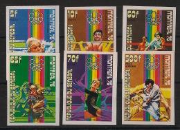 Sénégal - 1976 - N°Mi. 606 à 611 - JO Montreal - Non Dentelé / Imperf. - Neuf Luxe ** / MNH / Postfrisch