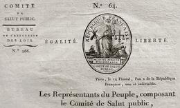 D-FR Révolution 1794 Comité De Salut Public Vente Biens D'Emigrés Signé ROBESPIERRE Etc. - Documents Historiques