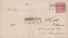 NDP GS-Umschlag 1 Gr. R2 Potsdam Bahnh. 12.7. - Norddeutscher Postbezirk