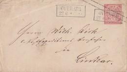 NDP GS-Umschlag 1 Gr. R2 Overath 22.6. - Norddeutscher Postbezirk