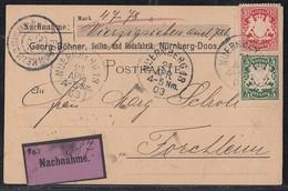 Bayern NN-Karte Mif Minr.55, 56 Nürnberg 21.4.03 - Bayern