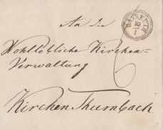 Brief Fingerhutstempel Bayreuth 10.1. Gel. Nach Kirchenthurnbach Ansehen !!!!!!!!!!!!! - Deutschland